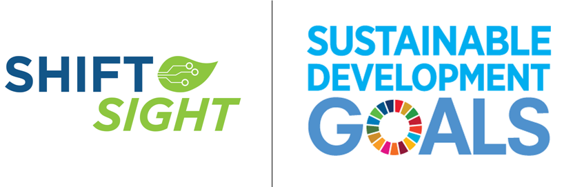 Shift Sight Logo and UN Sustainable Development Goals Logo